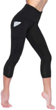 High Waist 3/4 Yoga Pants with Pockets-50%OFF