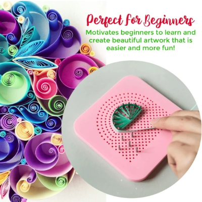 Paper Quilling Board With Pins-Bring out your creativity with it