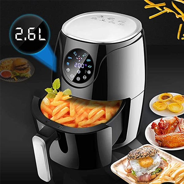 Smart LCD Touch Screen Timer Temperature Control Oil-free Fryer Machine