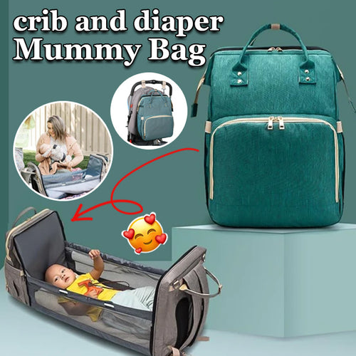 Portable Baby Bed Crib And Diaper Mommy Bag