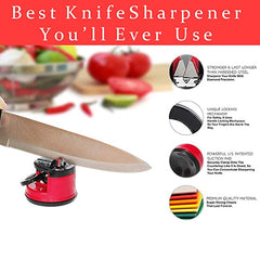 Knife Sharpener for all Blade Types-  3 SWIPES TURN DULL KNIVES SHARP