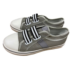Striped Color-Block Canvas Shoes