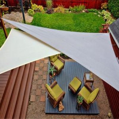 Sun Shade Sail Portable Waterproof Patio Triangle UV Blocking