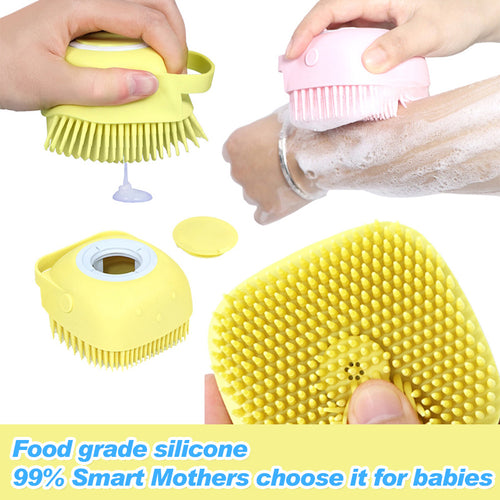 Soft Silicone Bath Brush With 494 Bristles To Clean Every Inch Of Your Skin