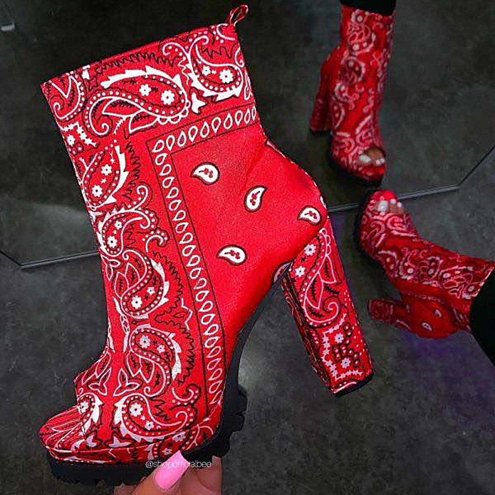 Lady's fashion short boots with