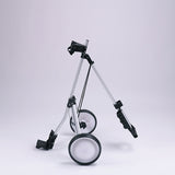 Foldable Golf Trolley Pull/Push Trolley Cart 2Wheels/3 Wheelss with Adjustable Handle Angle