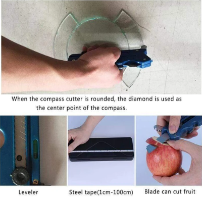 MULTIFUNCTIONAL GLASS & TILE CUTTER-CUTS GLASS AND TILES EASILY