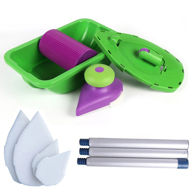Point Paint Roller and Tray Set - Household Painting Brush Decorative Tool