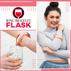 WINE FLASK DESIGNED FOR LADIES - This bracelet is actually a flask !