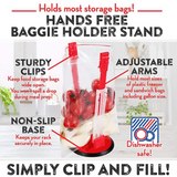 Baggy Rack Storage Bag Holder-Your Personal Kitchen Assistant