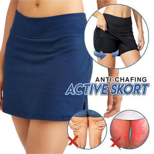 ANTI-CHAFING ACTIVE SKORT - SUPER SOFT & COMFORTABLE WITH 2 SIDES POCKET (BUY 2 FREESHIPPING)