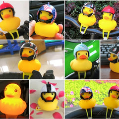 Yellow Silica Gel Little Duck Bicycle Bell & Light