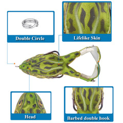 Double Propeller Frog Soft Lure Bait