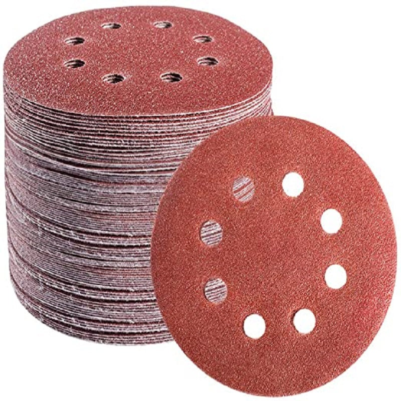 【Wide Application!】5-inch 8-Hole Round Grit Sandpaper