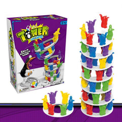 Collapse Penguin Challenge Tower Toy