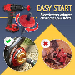 Jump Start Drill Bit - Save your any kind of  trimmers