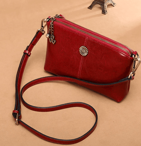 Women's Leather Shoulder Bag - 60%OFF
