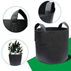 5-Pack Nonwoven Fabric Pots Grow Bags With Handles, Garden Plants Flowers
