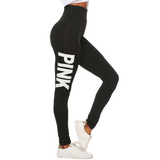 Pink Printed Workout Leggings-50%OFF