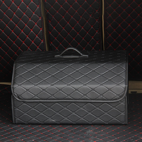 Collapsible Car Trunk Storage Organizer - Multipurpose BOX with Lid offers custom storage