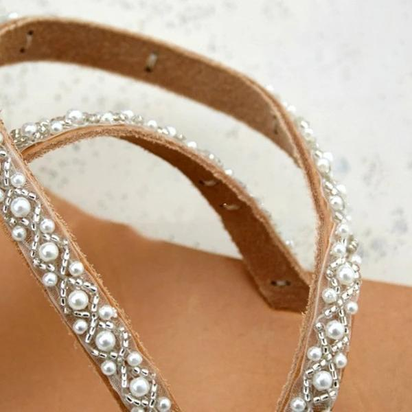 Handmade Beach Pearl Wedding Sandals - 50%OFF