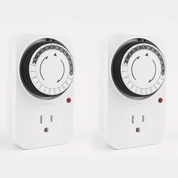 24 Hour Plug-in Mechanical Timer - Save Energy and Simplify Your Life