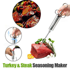 Stainless Steel Seasoning Syringe - Make Every Bite More Delicious And Juicy😋
