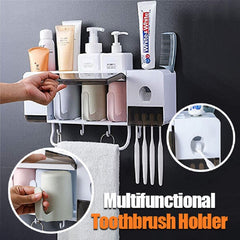 Toothbrush Holder Set & Automatic Toothpaste Squeezing Device-A Goods That Bathroom Must Prepare👍