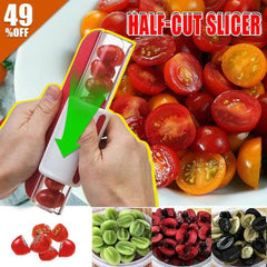 Half-Cut Slicer - Halves Fruits with a Quick Zip!