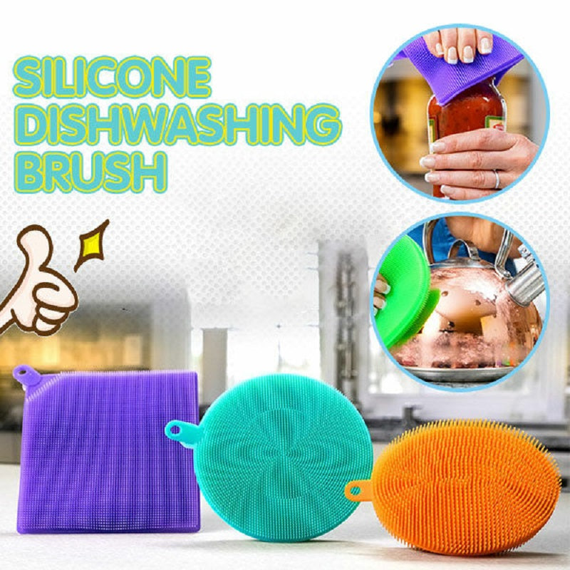 Silicone Dishwashing Brush - A Good Companion For Kitchen Cleaning