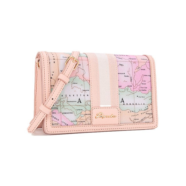 PAPRIKA Map Print Collection - Square Shoulder Bag