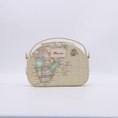 PAPRIKA Map Print Collection - Top Handle Bag