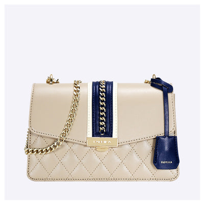 PAPRIKA Chain Detail Nappa Crossbody Bag