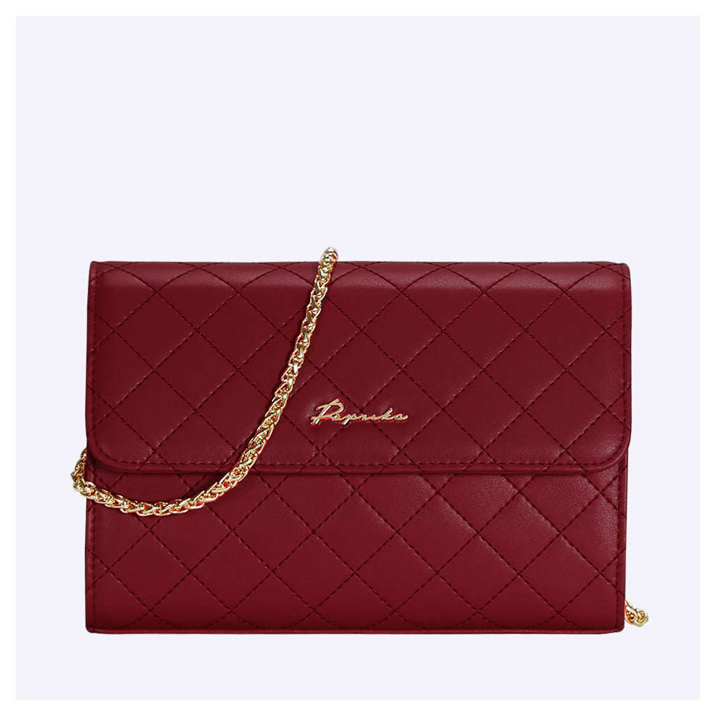 PAPRIKA Leather Quilted Crossbody Bag