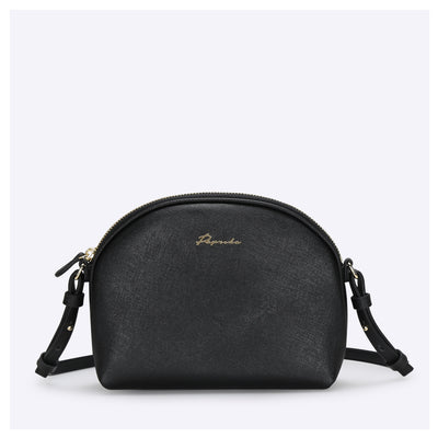 PAPRIKA Saffiano Mini Domed Shape Crossbody Bag