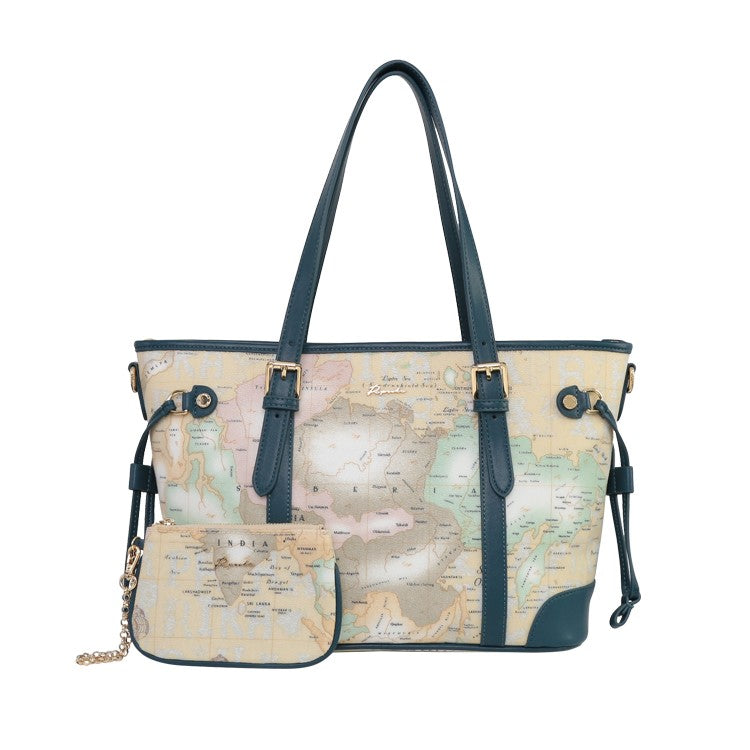 PAPRIKA Map Print Collection - Tote Bag with Wristlet