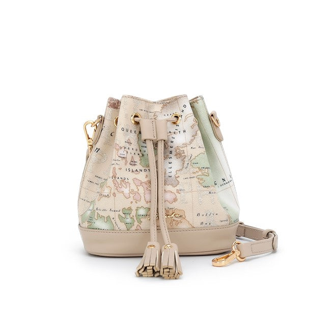 PAPRIKA Map Print Collection - Bucket Shoulder Bag