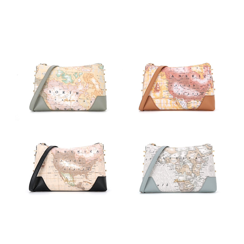 PAPRIKA Map Print Collection - Medium Crossbody Bag