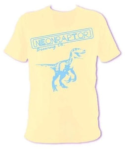 Summer Neon Raptor Dinosaur Logo T-shirt (Yellow)