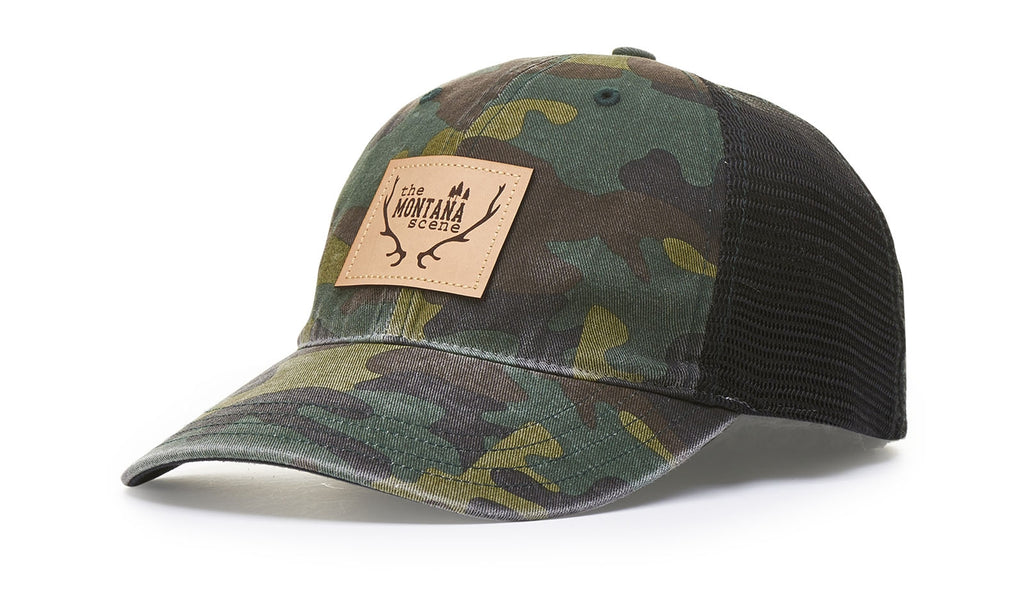 111P GARMENT WASHED CAMO TRUCKER