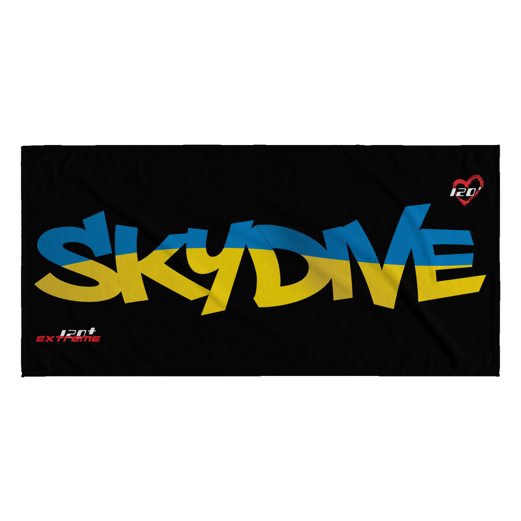 Skydiving T-shirts World Team - Skydive Ukraine - Beach Towels in 10 Colors, Beach Towel, teelaunch, Skydiving Apparel, Skydiving Apparel, Skydiving Gear, Olympics, T-Shirts, Skydive Chicago, Skydive City, Skydive Perris, Drop Zone Apparel, USPA, united states parachute association, Freefly, BASE, World Record,