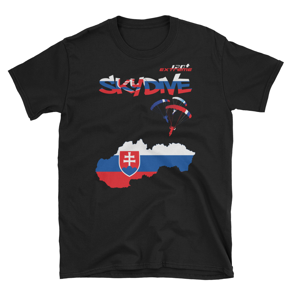 Skydiving T-shirts - Skydive World - SLOVAKIA - Cotton Tee -, Shirts, Skydiving Apparel, Skydiving Apparel, Skydiving Apparel, Skydiving Gear, Olympics, T-Shirts, Skydive Chicago, Skydive City, Skydive Perris, Drop Zone Apparel, USPA, united states parachute association, Freefly, BASE, World Record,