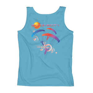 Skydiving T-shirts Ladies' Tank - Skydive City - Sunset, Tanks, Skydiving Apparel, Skydiving Apparel, Skydiving Apparel, Skydiving Gear, Olympics, T-Shirts, Skydive Chicago, Skydive City, Skydive Perris, Drop Zone Apparel, USPA, united states parachute association, Freefly, BASE, World Record,