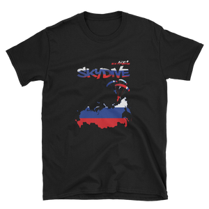 Skydiving T-shirts - Skydive World - RUSSIA - Cotton Tee -, Shirts, Skydiving Apparel, Skydiving Apparel, Skydiving Apparel, Skydiving Gear, Olympics, T-Shirts, Skydive Chicago, Skydive City, Skydive Perris, Drop Zone Apparel, USPA, united states parachute association, Freefly, BASE, World Record,