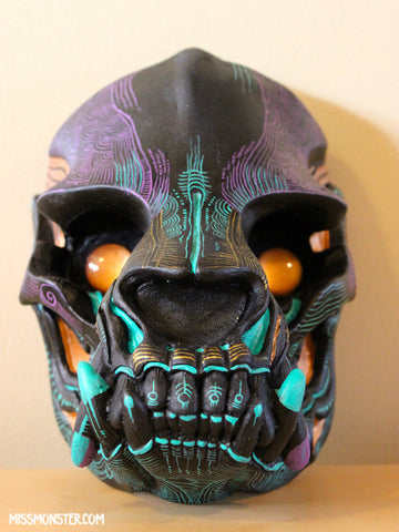PAINTED SKULL WALL ART- #2
