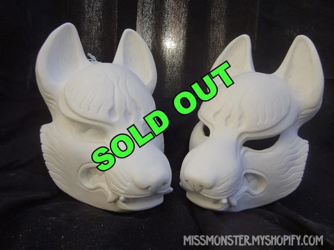 DIY KITSUNE MASK-  CUT OR RAW CAST