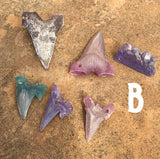 GLOW IN THE DARK SHARK TOOTH/CRYSTAL BUNDLES