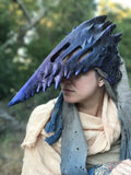 METAL QUILL CORVUS HELM- ONE OF A KIND, READY TO SHIP