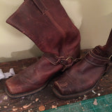 FRYE BELTED HARNESS BOOT- WOMENS 11