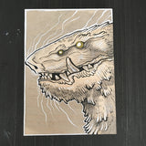 WOOD BLOCK MONSTER PAINTINGS